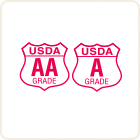 GRADE A / USDA SHIELD Logo