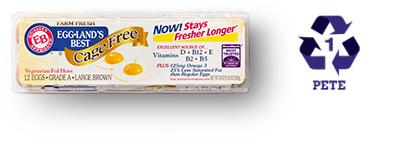 Eggland's Best Plastic Cartons
