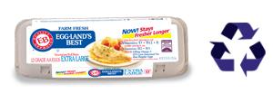 Eggland's Best Biodegradeable Pulp Cartons