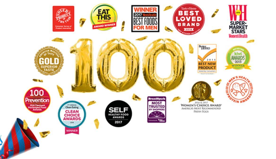 Eggland's Best Celebrates Receiving Its 100th Award!