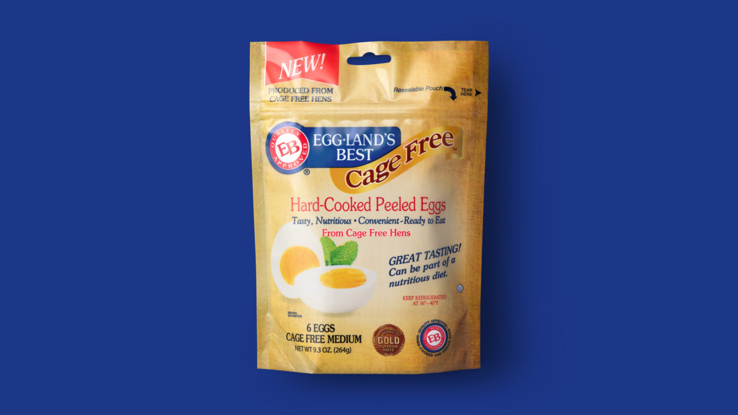 Cage Free Hard-Cooked Peeled Eggland's Best Eggs