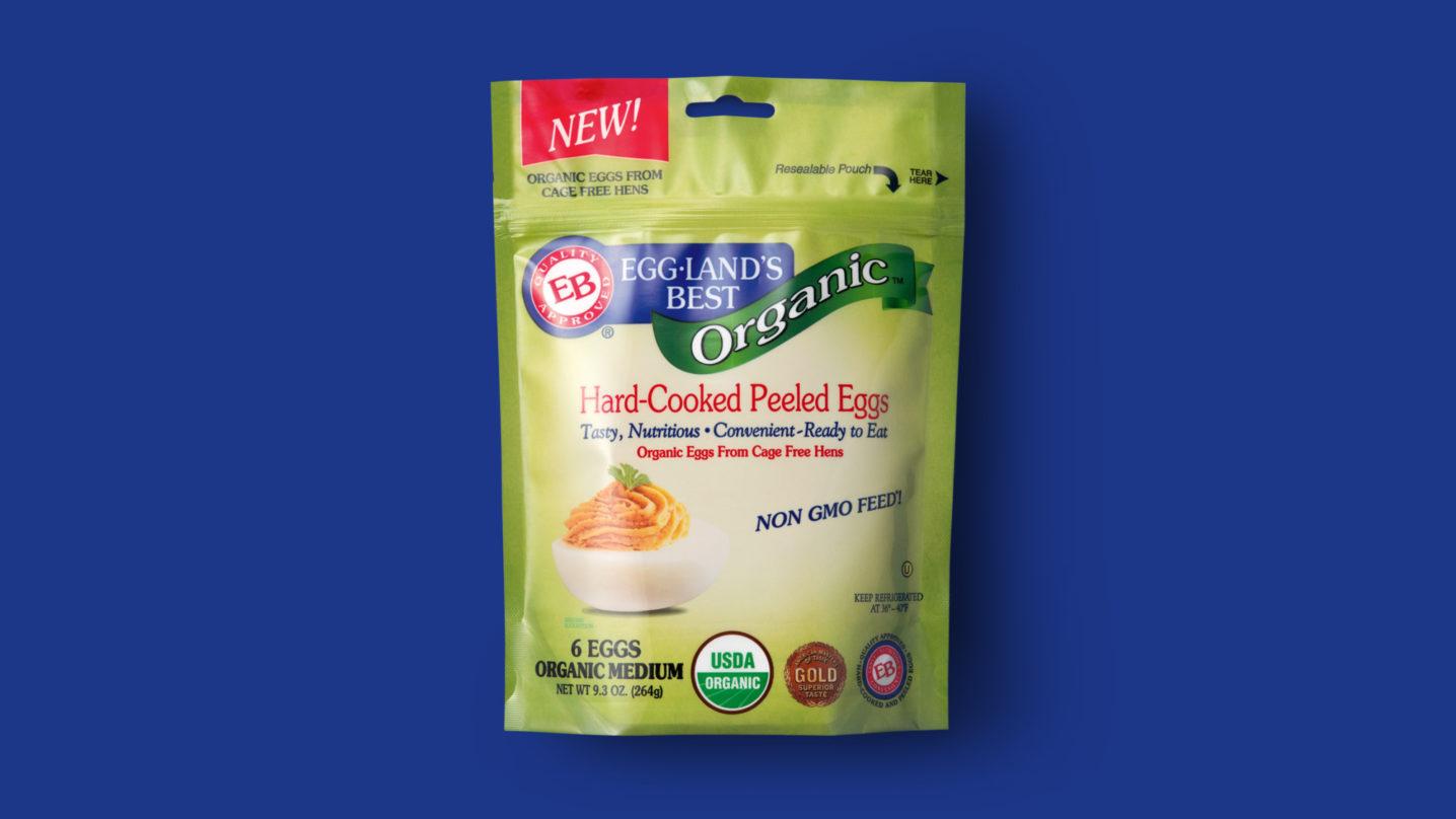 Organic Hard-Cooked Peeled Eggland's Best Eggs