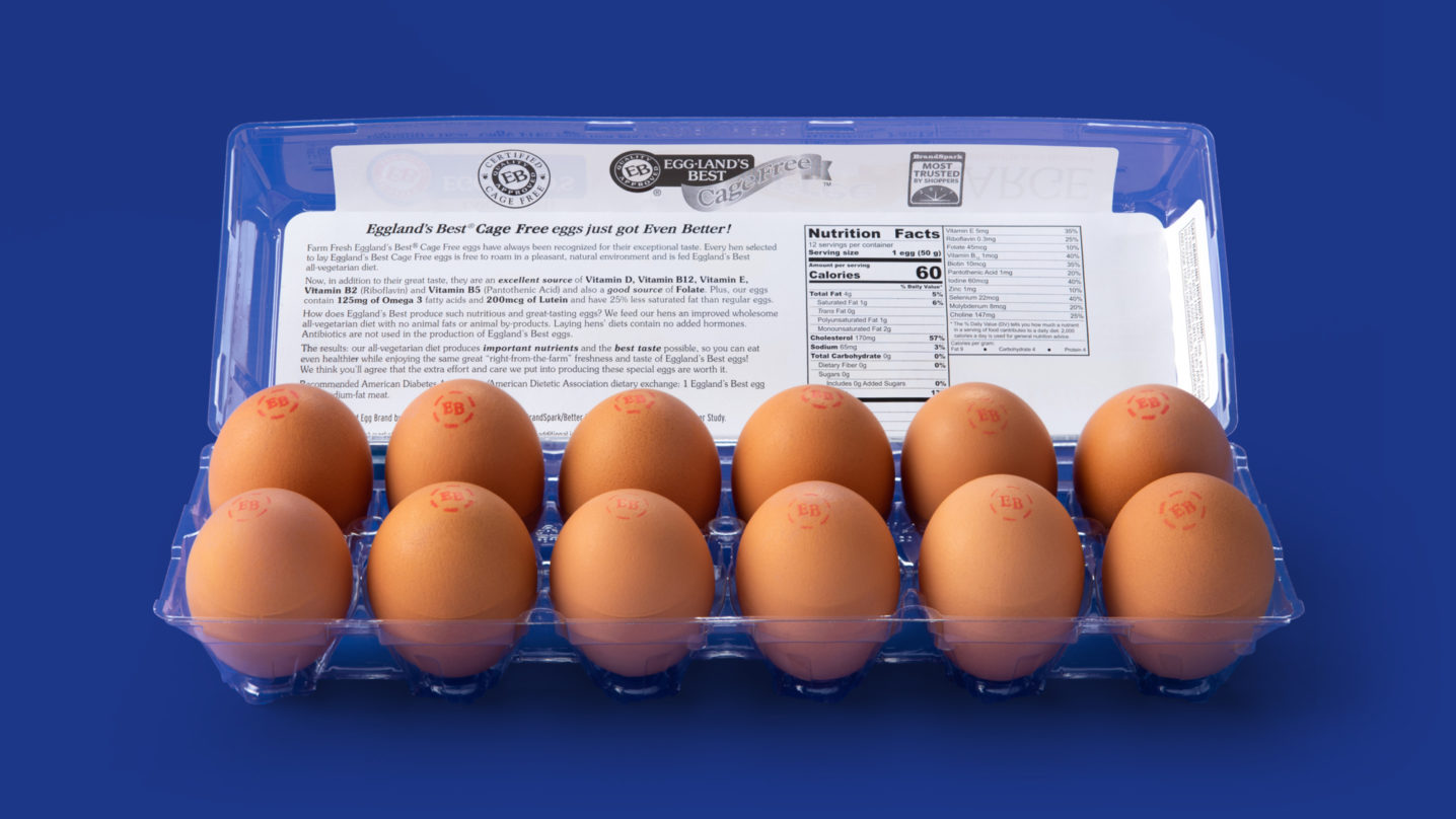 Eggland's Best 12 Count Cage Free Eggs Open