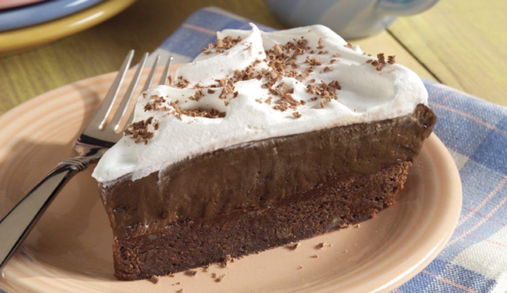 Brownie Bottom Pudding Pie