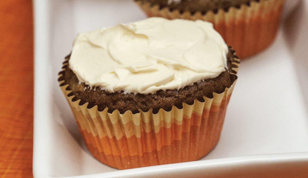 Orange Zucchini Cupcakes