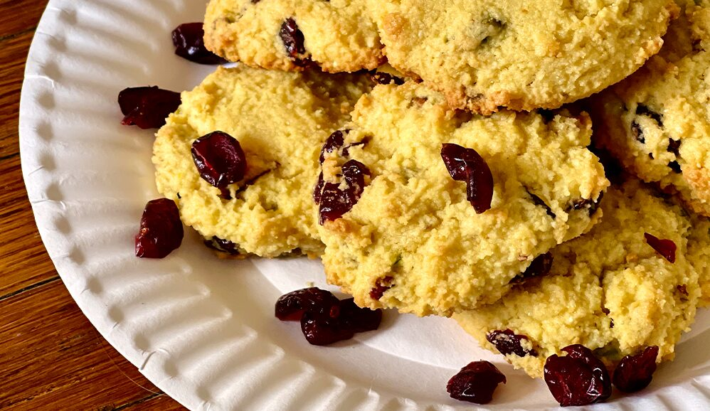 Photo of Paleo Pistachio Cranberry Almond Flour Cookies