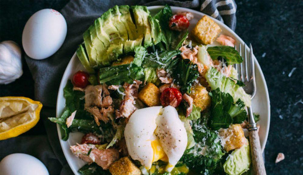 BLT Salmon Caesar Salad
