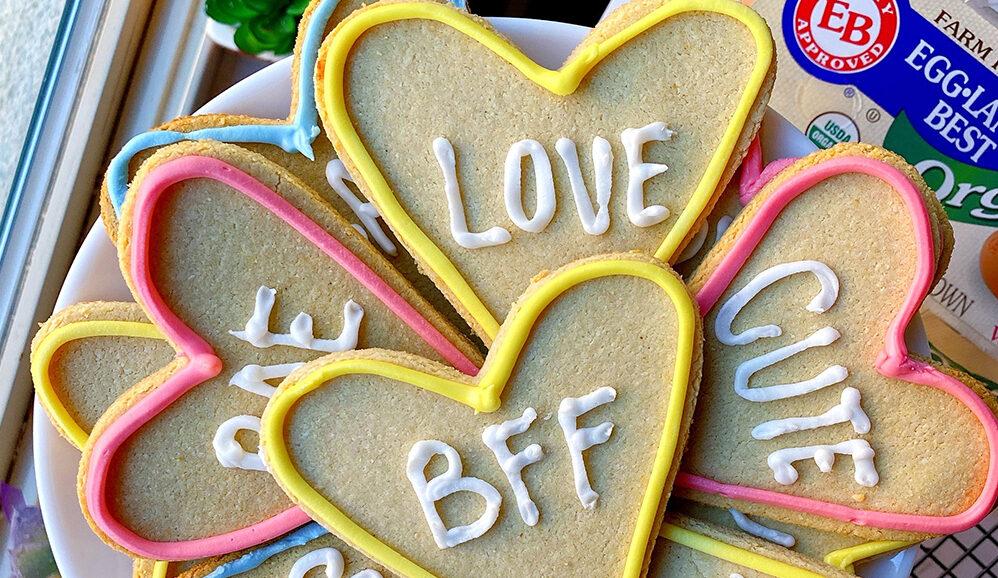Photo of Healthy Conversation Heart Cookies