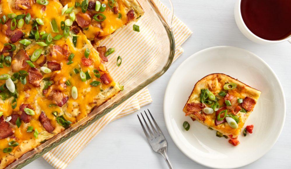 Easy Bacon and Asparagus Egg Casserole