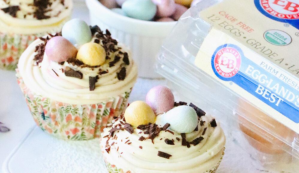 Photo of Blueberry Lemon Easter Cupcakes