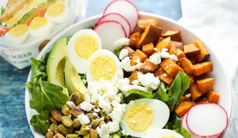 Spiced Sweet Potato and Kale Salad