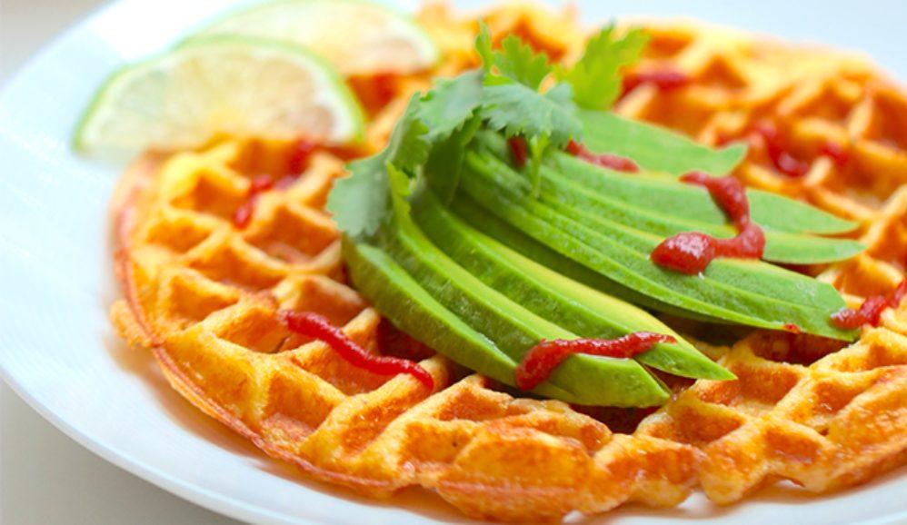 Scrambled Egg Waffles