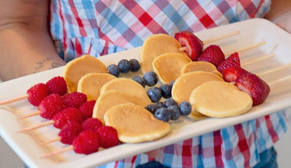 Photo of Protein Pancake & Fresh Berry Kabobs