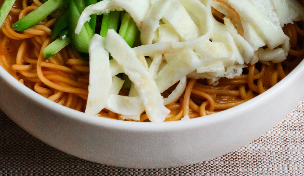 Photo of Sesame Peanut Butter Noodles with Egg Whites