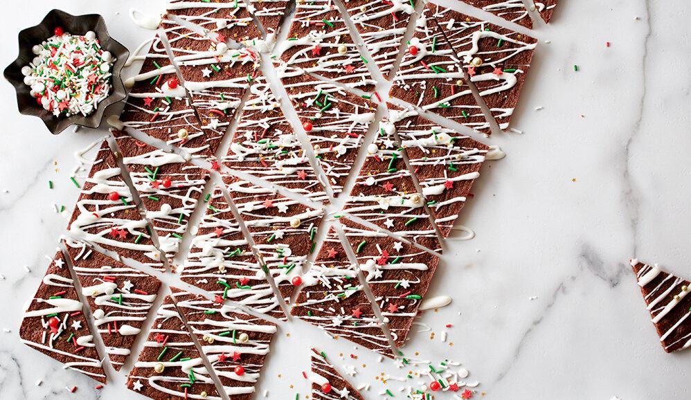 Holiday Brownie Bark