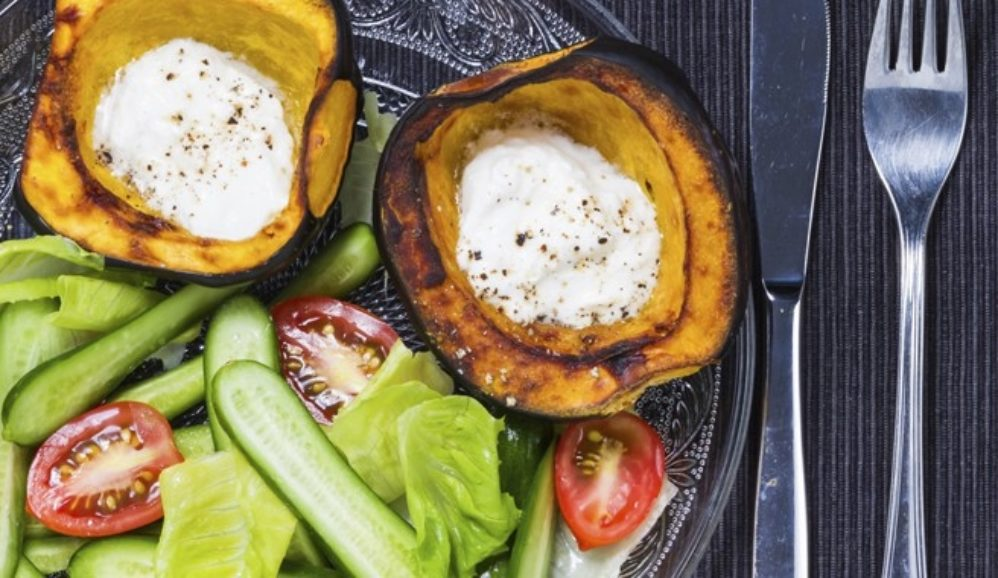 Baked Eggs in Acorn Squash
