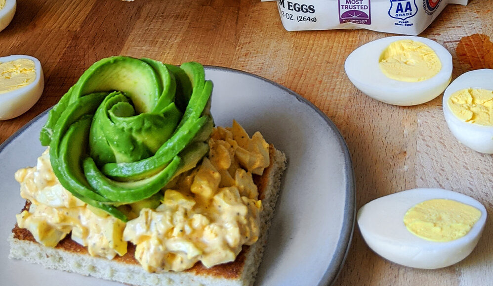 Creamy Avocado Egg Toast