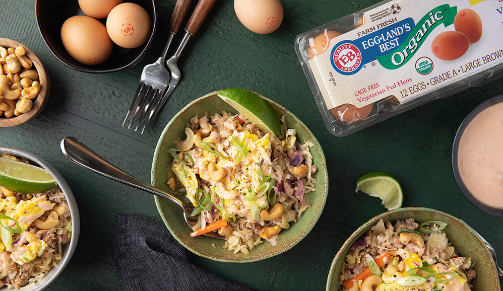 Photo of Scrambled Egg Roll Stir Fry with Spicy Lime Aioli
