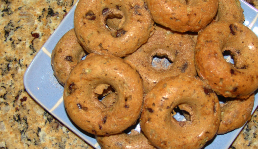 Baked Banana Chocolate Chip Donuts