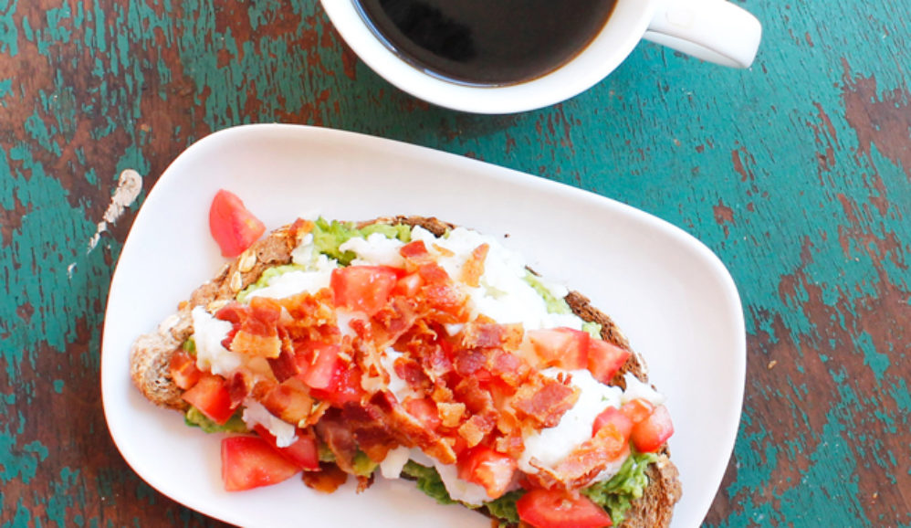 Bacon Avocado Breakfast Toast