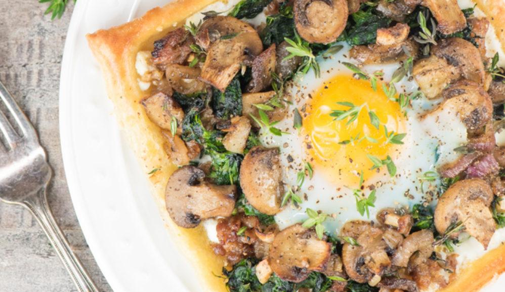 Sausage Mushroom and Egg Galette