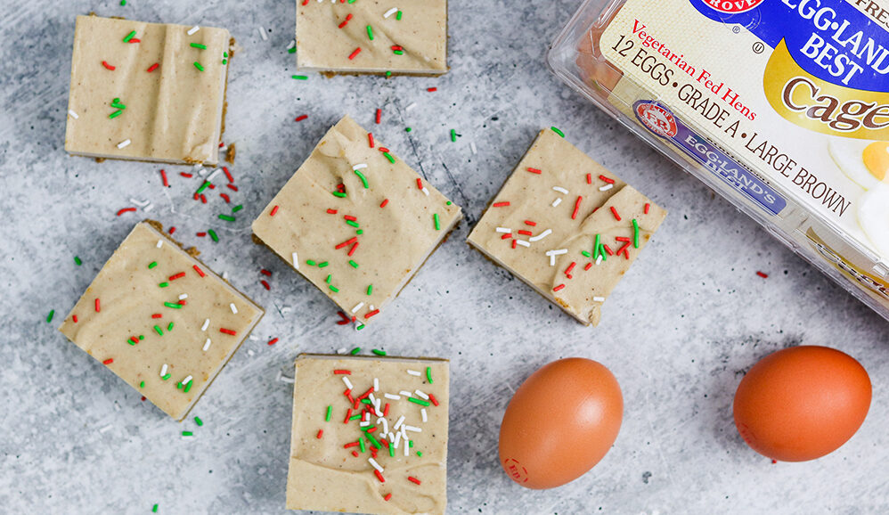 "Photo of Eggnog ""Cheese""cake Bars"