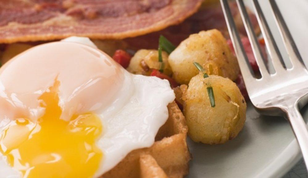 Huevos Rancheros Over Jalapeno-Cheddar Waffles