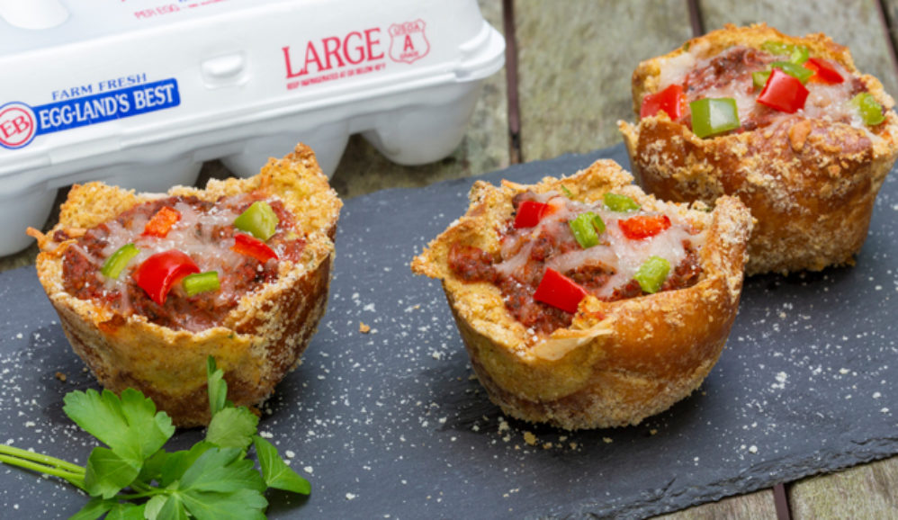Panko-Crusted Cheese & Sausage Deep-Dish Pizza Cups