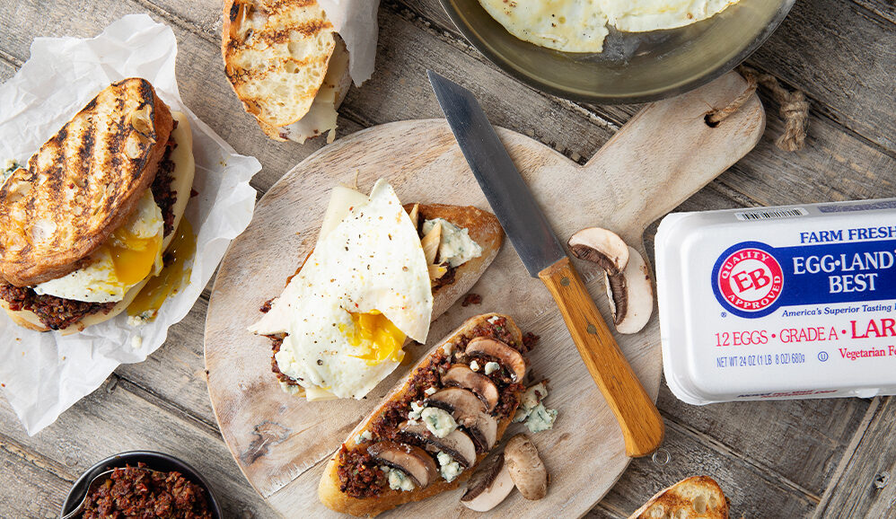 Italian Tapenade Chicken and Egg Panini