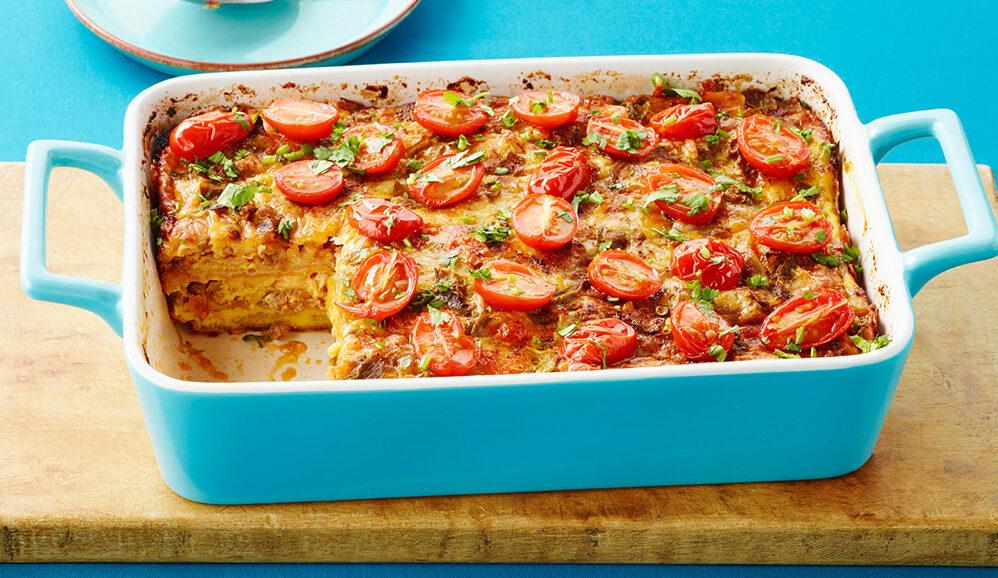 Overnight Tex-Mex Tortilla Brunch Bake