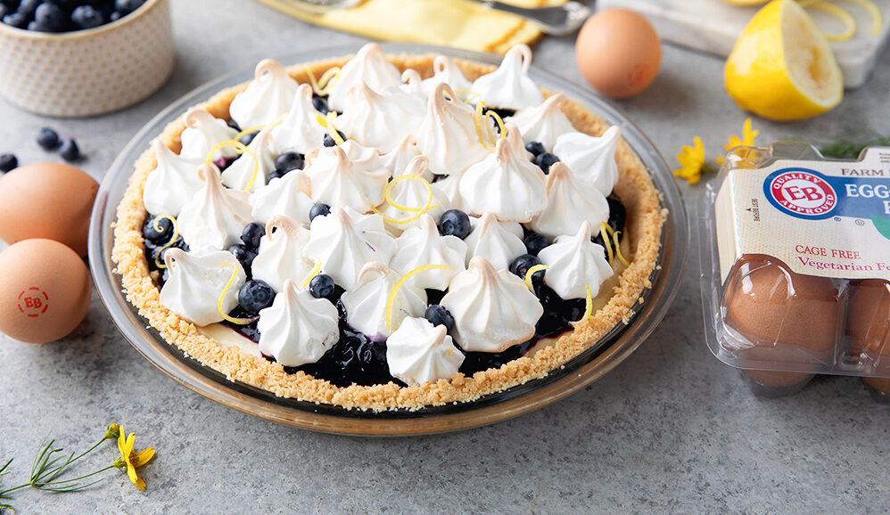 Photo of Meringue Kissed Lemon Pudding Pie with Wild Berry Jam