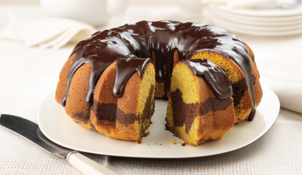 Pumpkin Chocolate Marble Cake