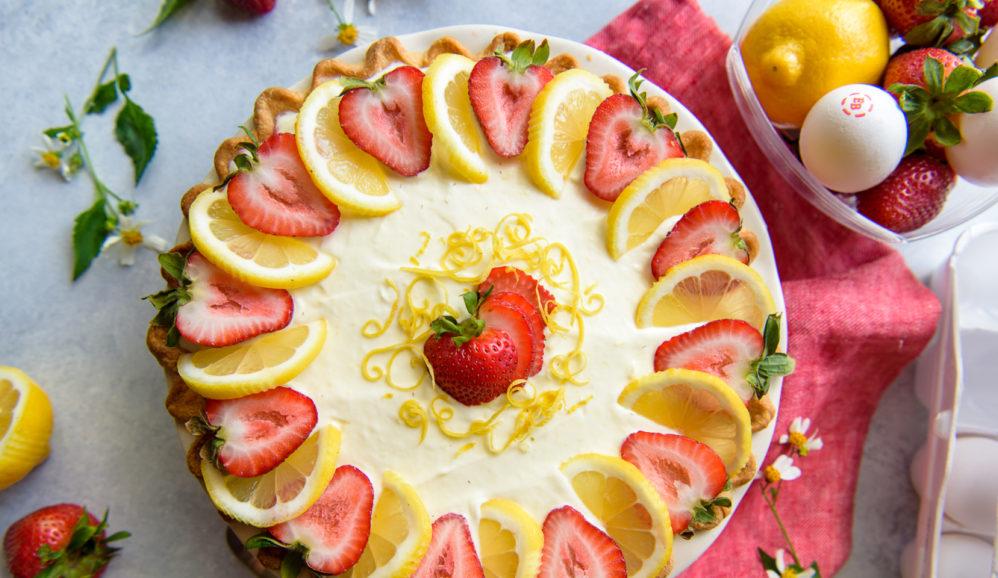 Strawberry Lemon Icebox Pie