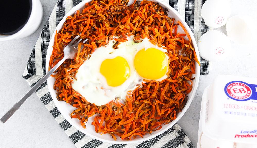Sweet Potato Hash & EB Eggs