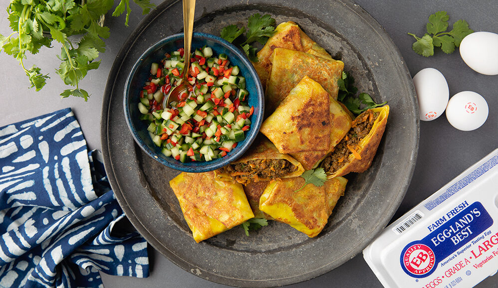 Indonesian Spiced Samosas with Cucumber Relish