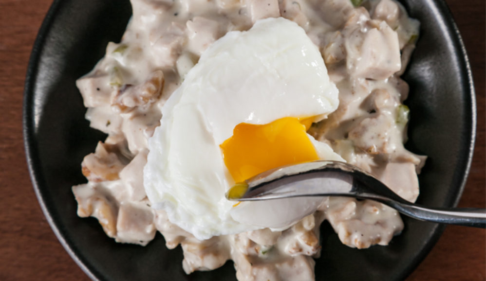 Poached Egg Turkey Hash
