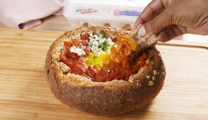 Shakshuka Bread Bowls