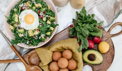 Haylie's Go-To Breakfast - Power Bowl of Greens & Eggland's Best Eggs