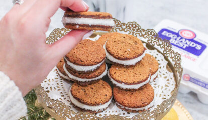 Ginger Sandwich Cookies with Lemon Frosting