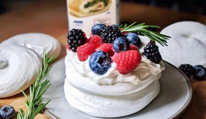 Pavlova with Mixed Berries
