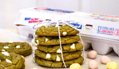 Brown Butter Matcha White Chocolate Chip Cookies