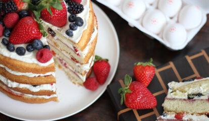 Buttermilk Berry Chantilly Cake