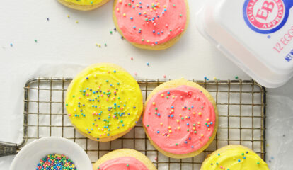 Frosted Soft Sugar Cookies