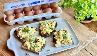 Roquefort Egg Salad Tartines