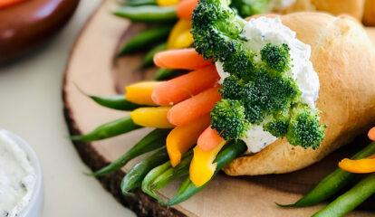 Veggie Croissant Cones