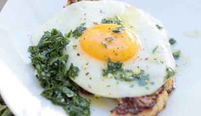 Cauliflower Steak and Eggs