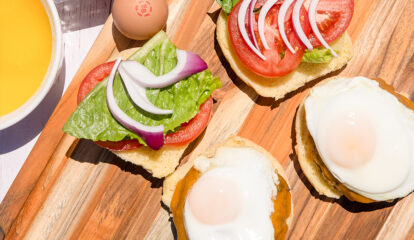 Fried Egg Burger with Hollandaise Sauce