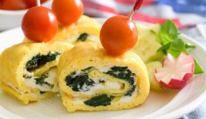 Frittata Roll Ups Stuffed with Spinach and Ricotta (Rotoli di Frittata)