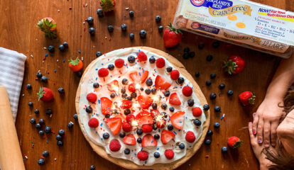 Red, White, and Blueberry Dessert Pizza