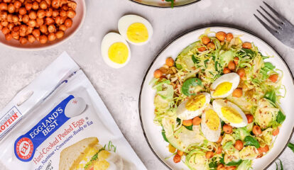 Spicy Chickpeas and Brussels Salad